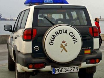 Un coche de la Guardia Civil