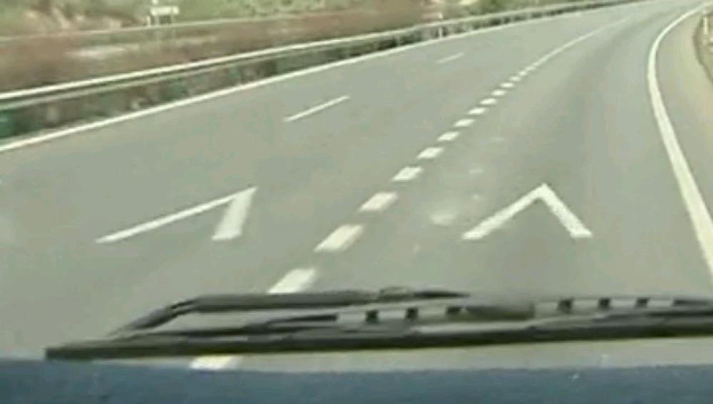 Galones en la carretera