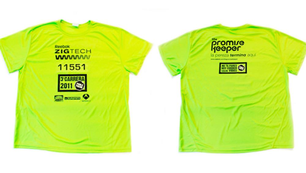Camiseta de Reebok para la 3ª Carrera Ponle Freno
