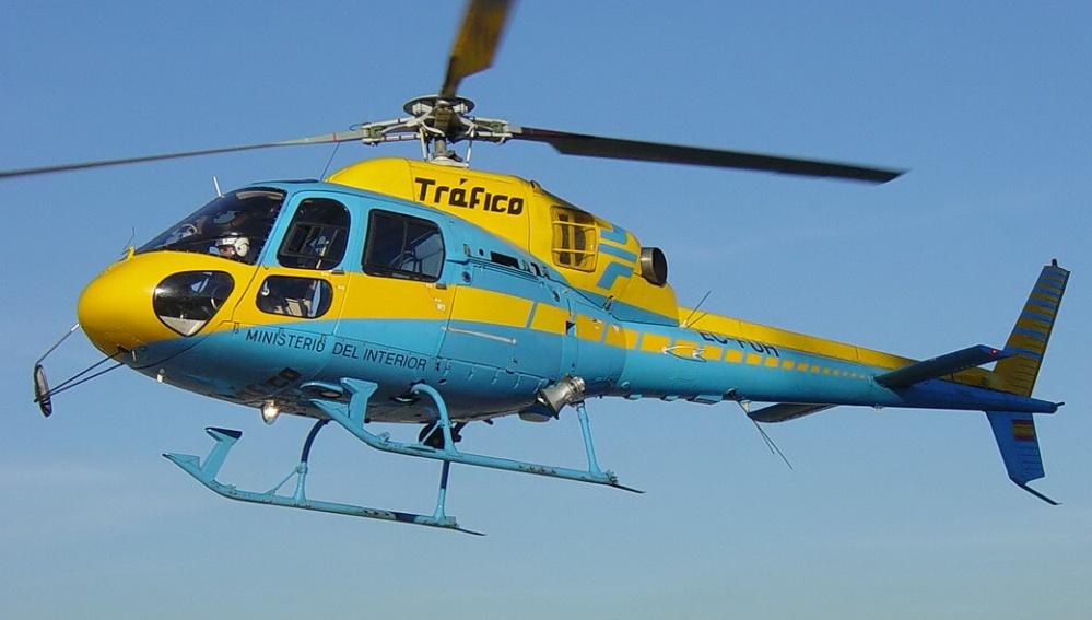 Uno de los 19 helicópteros radar de la DGT