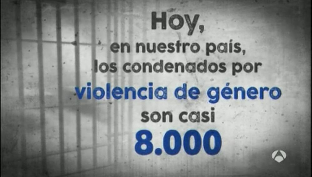 En nuestro país, los condenados por violencia de género son casi 8.000
