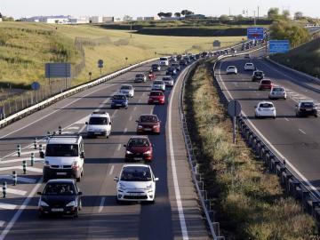 Tráfico en la A-4, carretera de Andalucía, sentido Madrid.