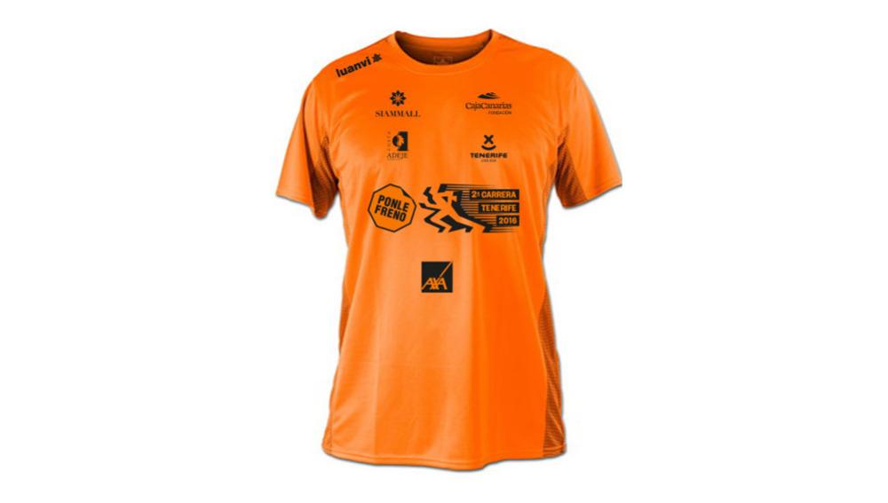 La camiseta de la 2ª carrera Ponle Freno de Tenerife