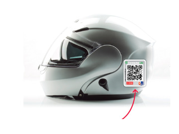 Casco con el sistema Connected Life