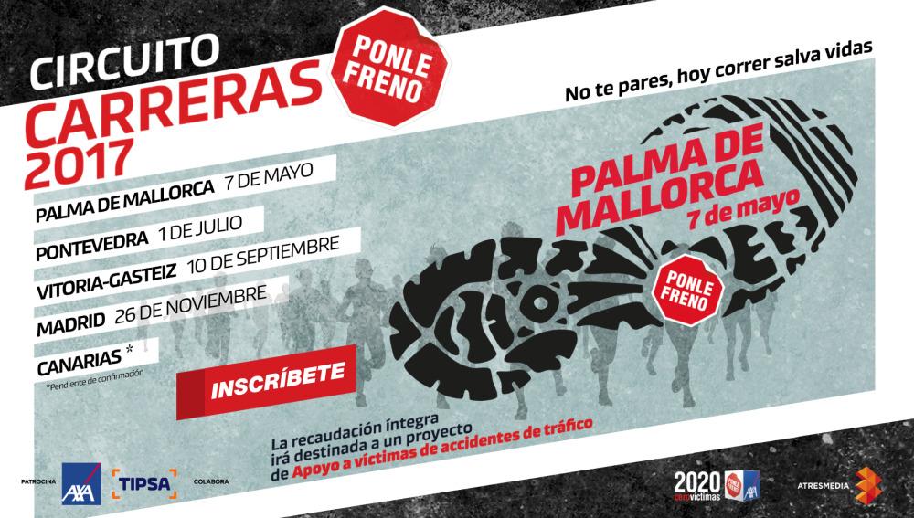 Cartel Carrera Ponle Freno Palma de Mallorca