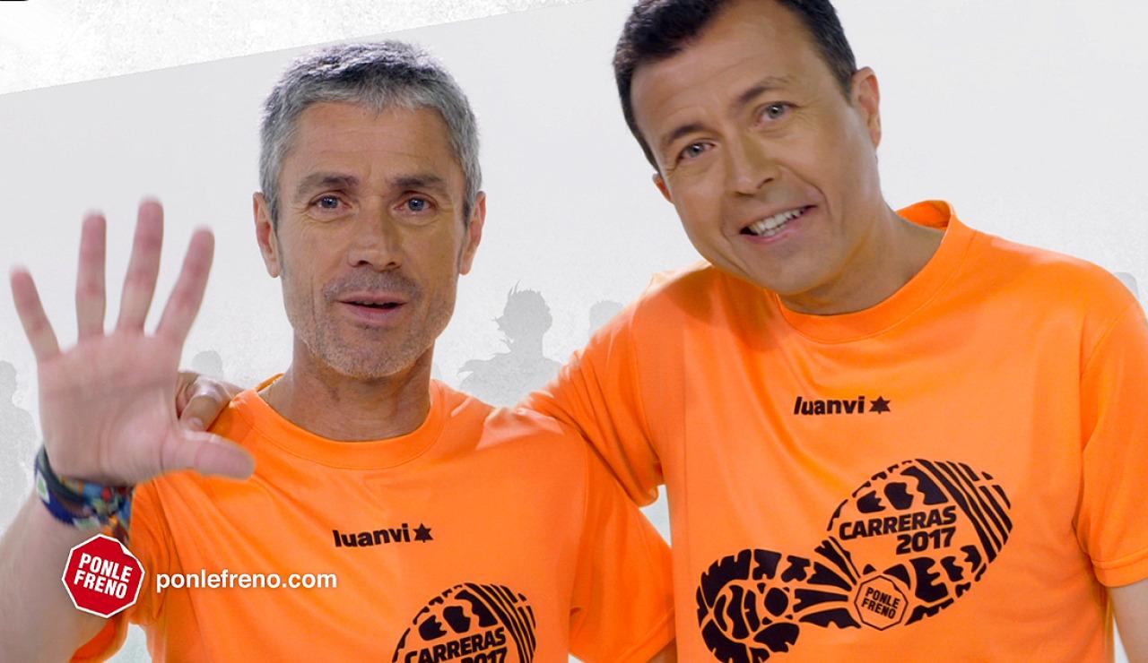 Martín Fiz y Manu Sánchez, embajadores del circuito de Carreras Ponle Freno