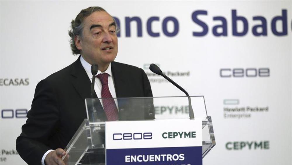 El presidente de la CEOE, Juan Rosell