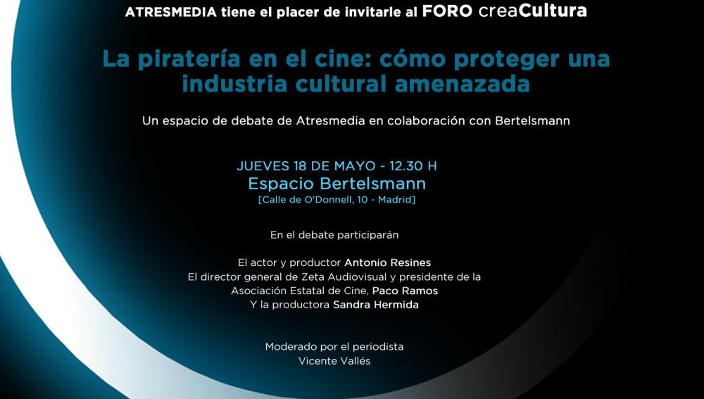 CreaCultura acoge el foro 'La piratería en el cine: cómo proteger una industria cultural amenazada'