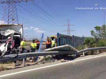 Dos heridos en un accidente en la A-1 a la altura de San Sebastián de los Reyes