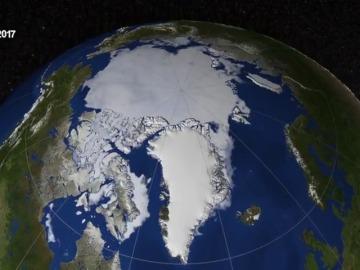 El hielo del Ártico registra su extensión mínima desde 1978