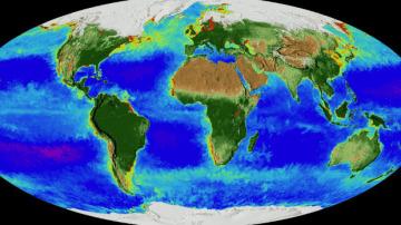 Mapa animado de la NASA