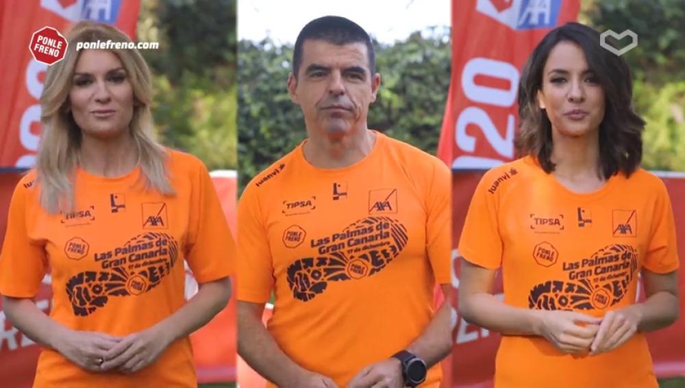 Los presentadores de Atresmedia te invitan a participar en la carrera Ponle Freno de Las Palmas de Gran Canaria