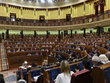 Vista general del hemiciclo del Congreso