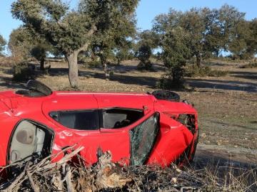 Un accidente de tráfico ocurrido en Santa Marta de Tormes, Salamanca