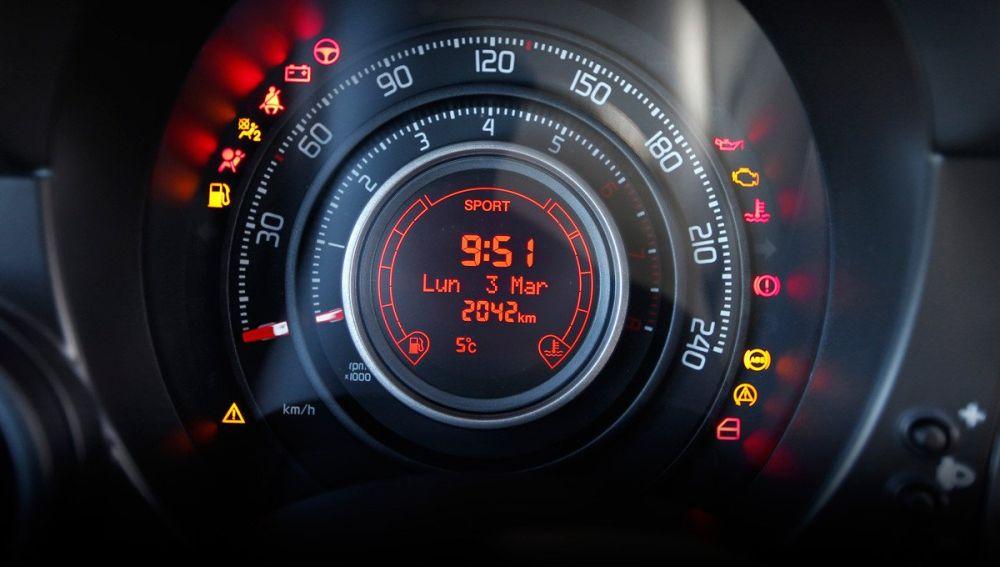 Panel de control de un vehículo