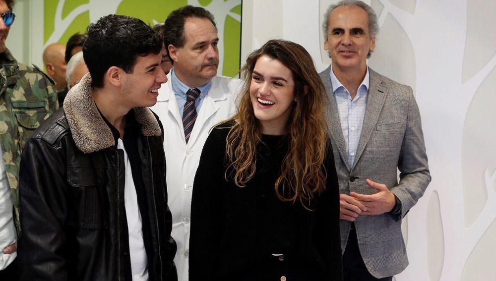 Amaia y Alfred en el Hospital Niño Jesús