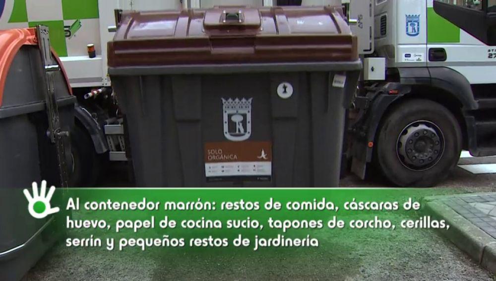 ¿Qué restos hay que depositar en el nuevo contenedor marrón?