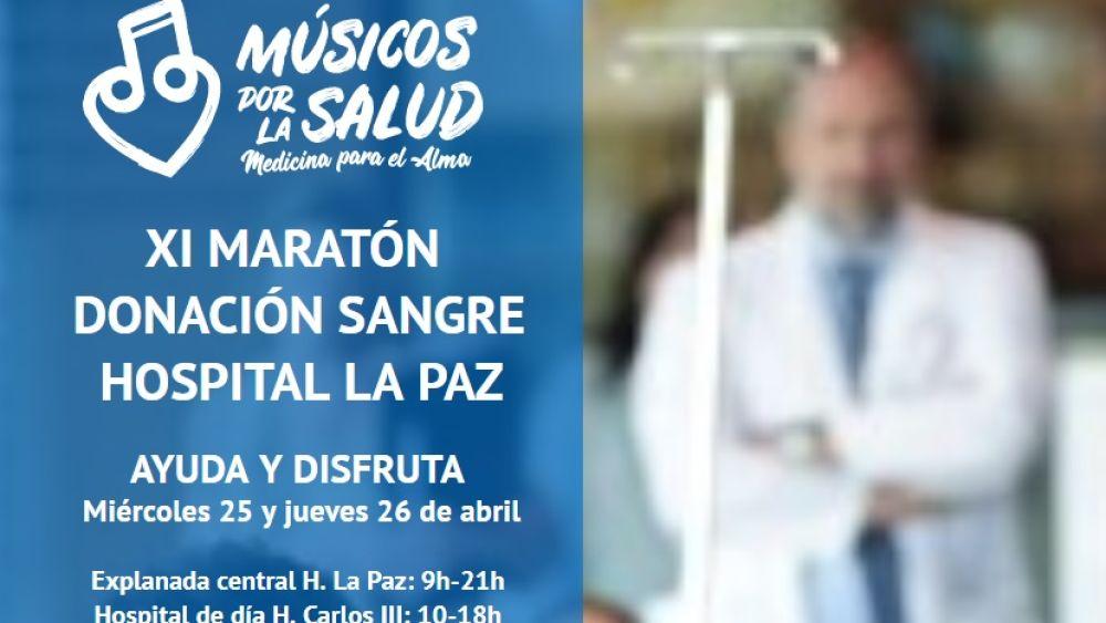 El Hospital La Paz organiza el XI Maratón de donación sangre