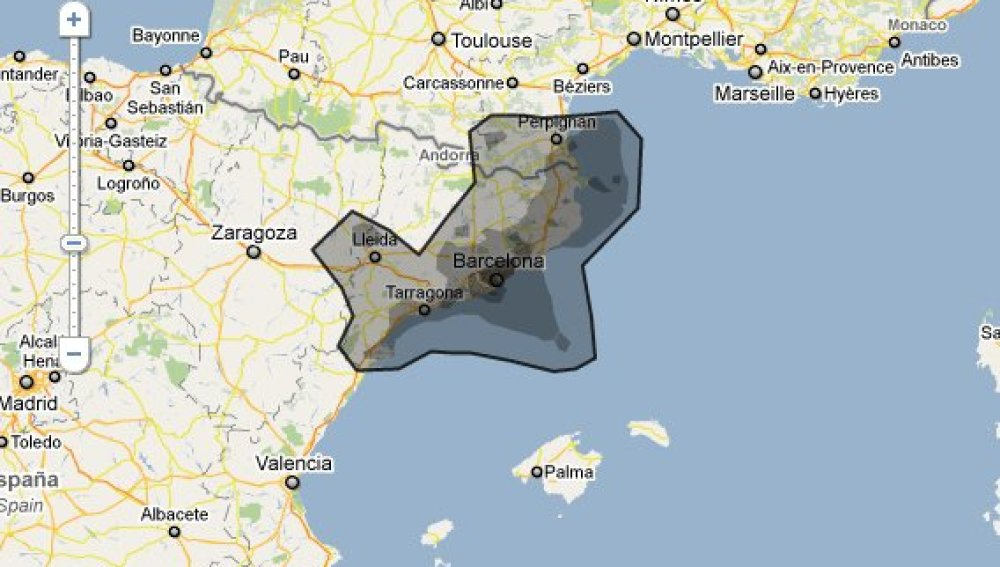 Vertido en la zona de Cataluña