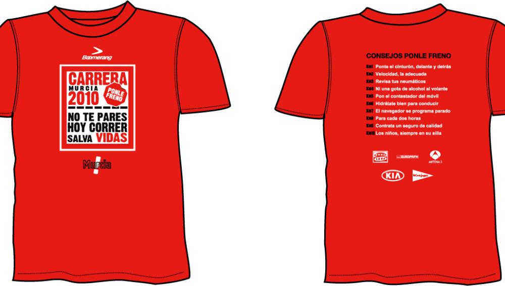 La camiseta de la carrera en Murcia