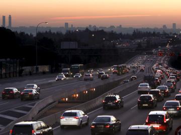 Vista de la contaminación de Madrid
