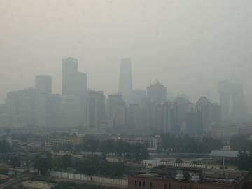Imagen de la ciudad de Madrid con altos niveles de contaminación