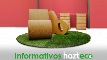 Mobiliario de cartón en el Informativo de Hazte Eco