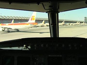 Primer avión con biocombustible en España