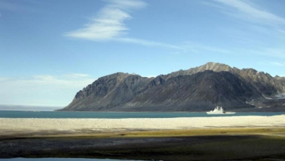 Un glaciar sin hielo en el Ártico