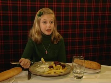 Jimena ha podido comer como toda su familia fuera de casa