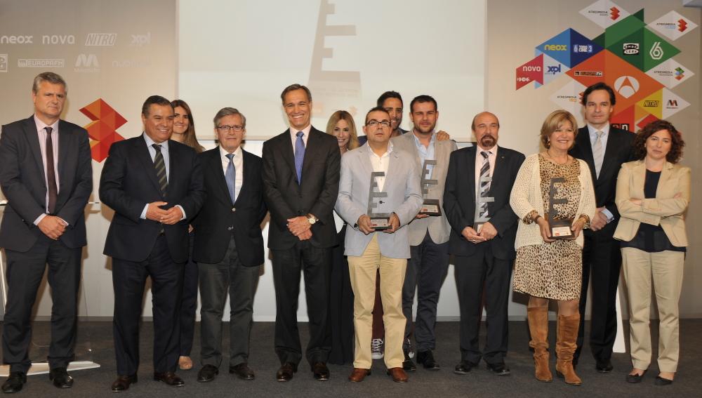 Los premiados con Silvio González, Consejero Delegado de Atresmedia