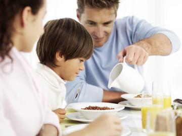 Desayuno en familia