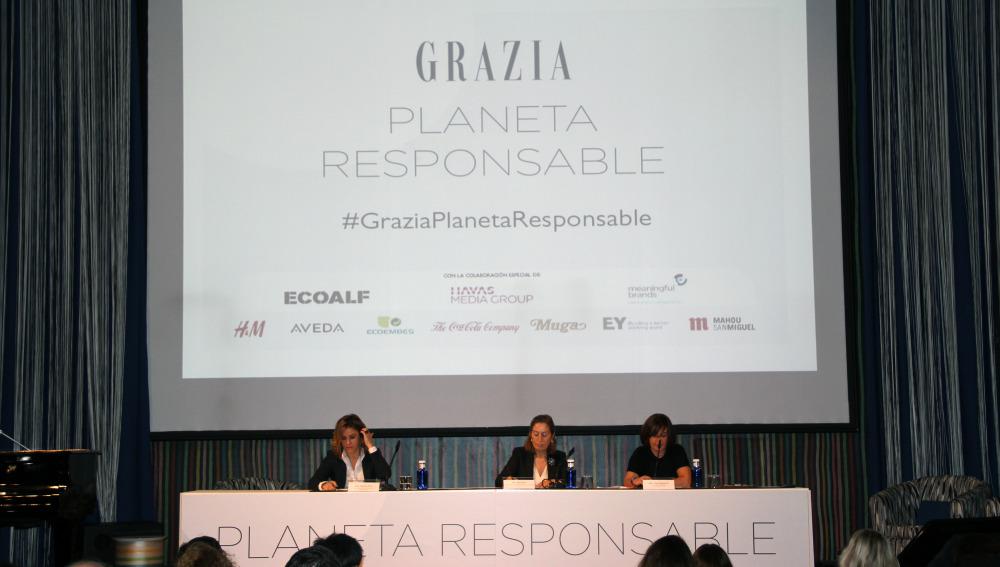 Patricia Perez, Ana Pastor y Charo Izquierdo en la inauguración de Gracias Planeta Responsable
