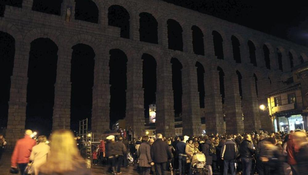 El acueducto de Segovia, apagado
