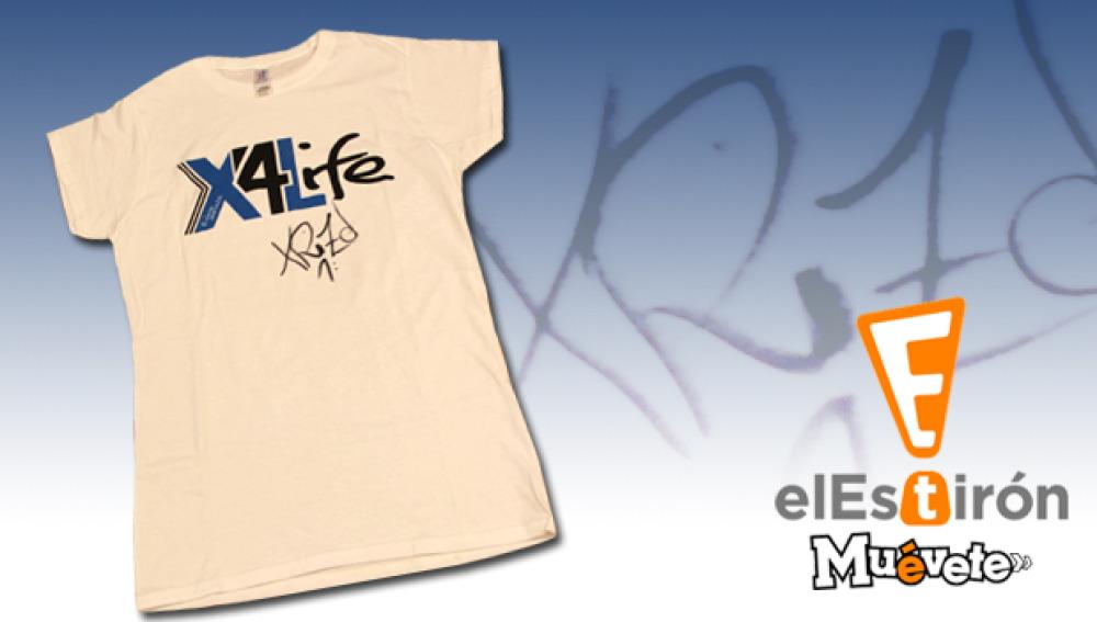 Camiseta firmada por XRIZ para El Estirón