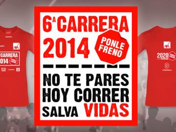 Cartel y camiseta 6ª Carrera Ponle Freno