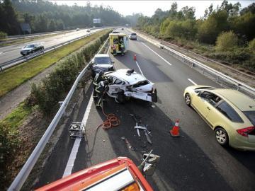 Ocho muertos y tres heridos en las carreteras españolas este fin de semana
