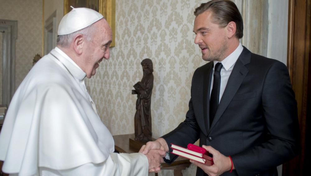 El Papa Francisco y Leonardo DiCaprio