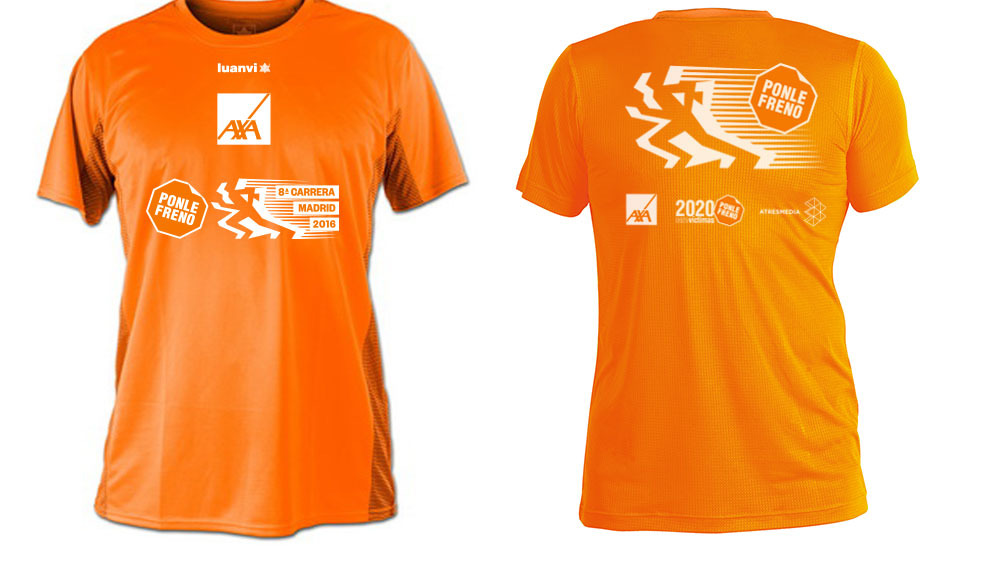 La camiseta de la 8ª carrera Ponle Freno Madrid
