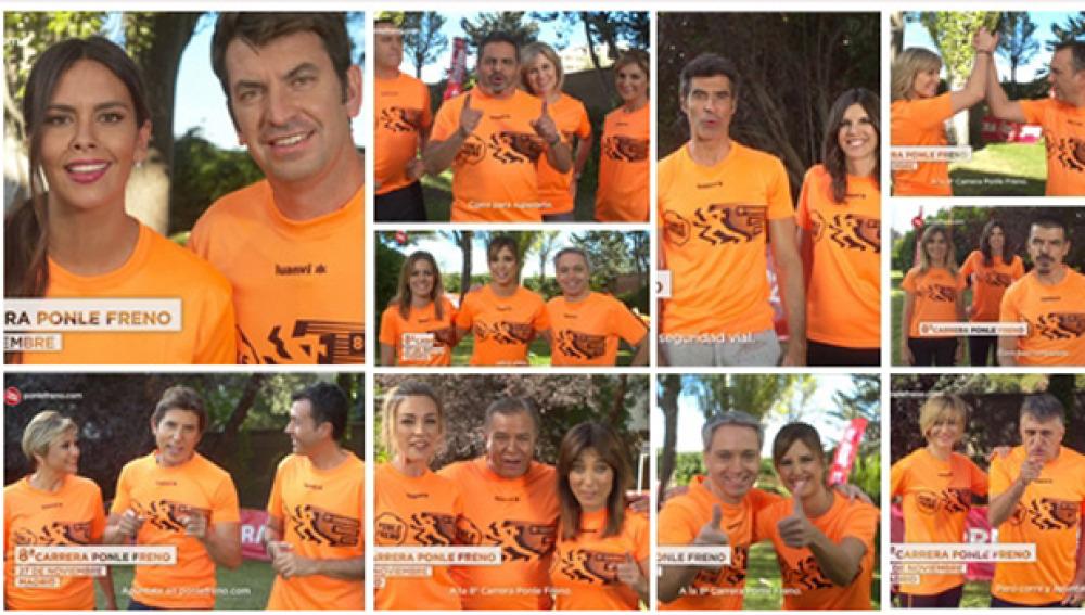 Los presentadores de Atresmedia te animan a participar en la 8ª Carrera Ponle Freno