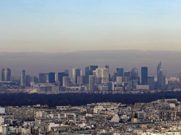 Capa de contaminación en París