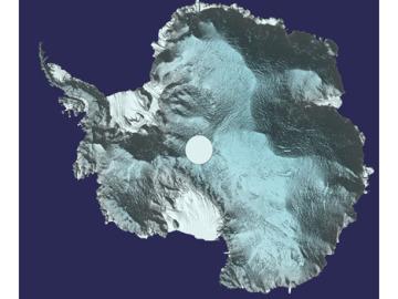 Ya podemos ver una imagen de la Antartida en 3D