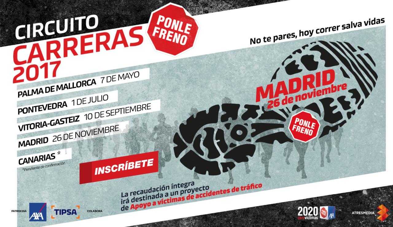 Cartel carrera Ponle Freno Madrid