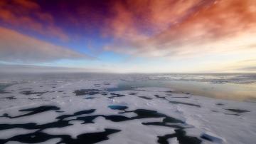 El deshielo del Antártico puede hacer que se formen más nubes, según un estudio