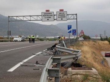 Accidente de tráfico en Alcover, en Tarragona
