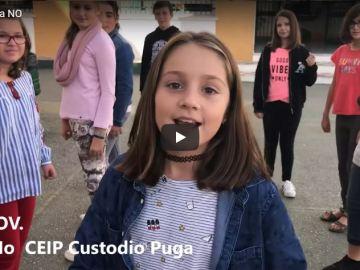 Alumnos y profesores de un colegio de Málaga graban un videoclip para la canción #YaNO   Tolerancia Cero