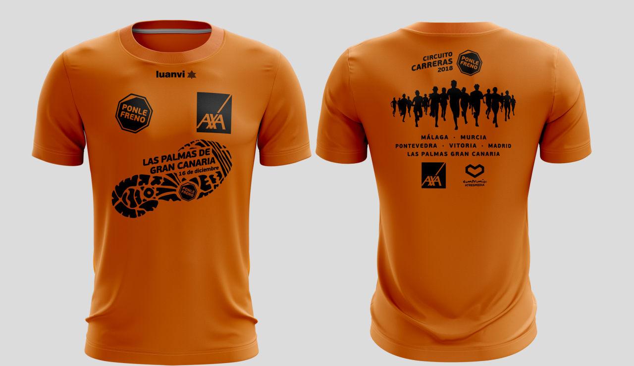 Camiseta carreras Ponle Freno Las Palmas de Gran Canaria 2018