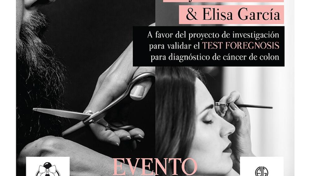 Cortes de pelo a cambio de una donación solidaria de cinco euros para apoyar la investigación en cáncer de colon